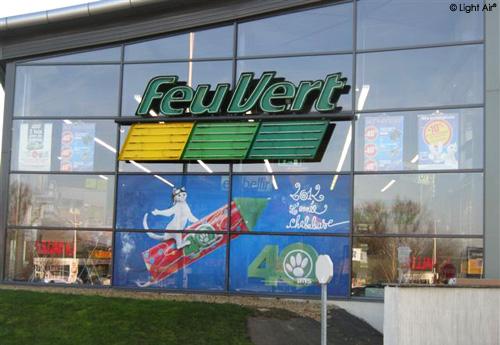 Campagne Feu Vert, enseigne, covering