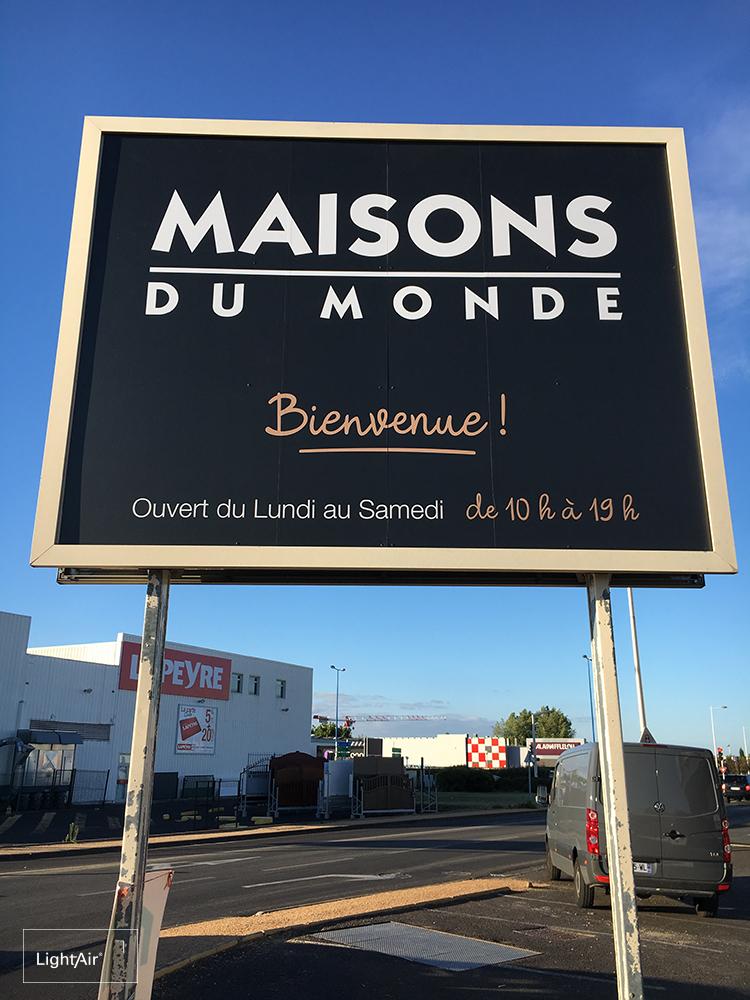 Enseigne Communicante Maisons Du Monde Clermont Ferrand Lightair